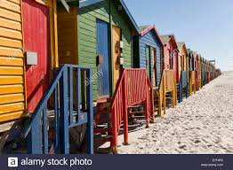 colourful beach houses in muizenberg stock photos u0026 colourful