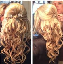 half up half down prom hairstyles easy wedding half updo hairstyle