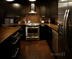 Kitchen Colors With Black Cabinets Kitchen Ideas Dark Brown Cabinets Backsplash With Home In Design