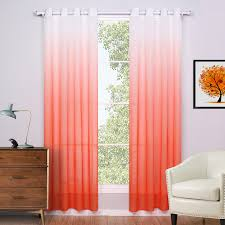 Sheer Curtains Orange Sheer Curtains For Living Room Modern European Style Curtains