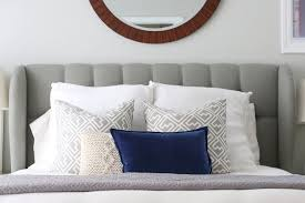 Gray Linen Headboard 4 Fixes For The Blank Space Above Your Bed Wayfair