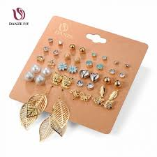 ear studs danze 20 pairs pack set brincos mixed stud earrings for women