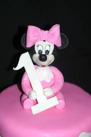 pink little cake baby minnie mouse cake