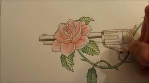 rose u0027n gun tattoo style youtube