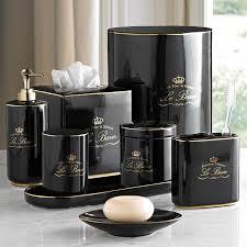 bain black u0026 gold porcelain bathroom accessories eclectic bathroom