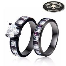 skull wedding ring sets wedding rings skulljewelry american owned operated 1