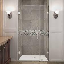 dreamline linea 34 in x 72 in semi frameless fixed shower door