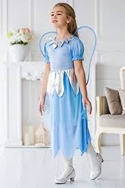 Blue Butterfly Halloween Costume Kids Girls Blue Fairy Halloween Costume Elf Butterfly Pixie Dress