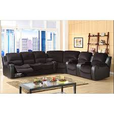 Microfiber Reclining Sectional With Chaise Complete The Look Of Your Living Space With This Dynamic Tyson