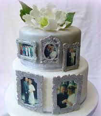 silver wedding cakes silver wedding cake