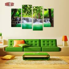 Wholesale Spray Paint Suppliers - aliexpress com buy 4 piece waterfall and tree picture spray