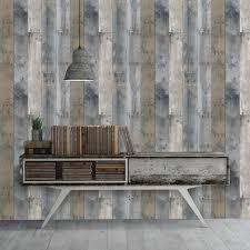 Self Adhesive Wallpaper by Repurposed Wood Multi Colored Textured Self Adhesive Wallpaper By