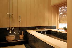 Japanese Bathroom Design Japanese Style Bathing Room With Granite Soaking Tub Asian