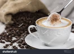 cappuccino cappuccino coffee cup spoon composition cup stock photo 533115721