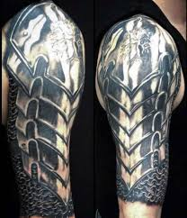 cool arm tattoos for guys armor 1 arm