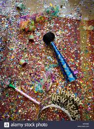 new years party poppers new years party wreckage including confetti poppers horns