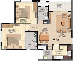 2bhk Plan For 500 Sq Ft 1340 Sq Ft 2 Bhk 2t Apartment For Sale In Prestige Group Bella