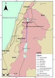 Jordan River Map Jordan River Watershed Source Assaf Chen And Weisbrod 2016