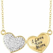 love you gold necklace images Cheap double heart necklace gold find double heart necklace gold jpg