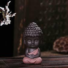 design small buddha statue monk figurine india mandala tea