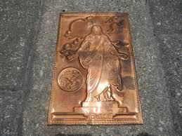 kopper kard postcards vintage kopper kard engraved copper postcard the christus