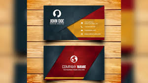 business card design free photoshop template youtube