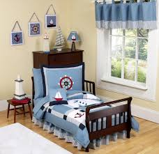 Nautical Themed Bedding Blue Nautical Themed Toddler Boy Comforter Bedding 5pc Bed In A