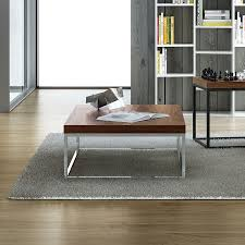 Designer Coffee Tables by Prairie Walnut Chrome Modern Coffee Table Eurway