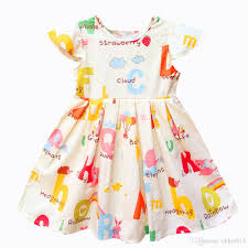 pattern dress baby girl 2018 kseniya kids baby girls clothes baby girl summer princess party