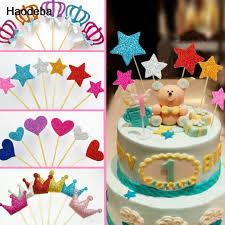 custom cupcake toppers 6pcs handmade dessert fruit cake topper custom glitter crown