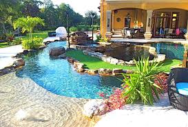 Backyard Pool With Lazy River Backyard Oasis Lazy River Pool With Island Lagoon And Jacuzzi In