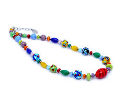 glass necklace images Minimarakesh authentic murano glass necklace millefiori jpg