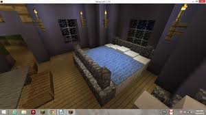 Minecraft How To Make A Bunk Bed Bedroom Bedroom Pink Purple Wallpaper Wall Design Canopy