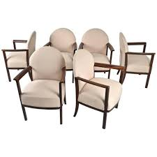 Zebra Dining Chairs Set Of Six Belgian Dining Chairs In Zebra Wood Circa 1930s Awk