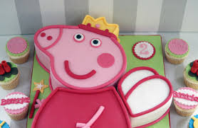 peppa pig cupcakes peppa pig 2nd birthday cake with cupcakes bakealous