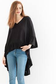 popover blouse hi low popover blouse with ruffles suzy shier