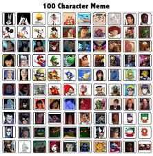 Meme Characters - 100 character meme by essteka on deviantart