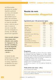 grammage cuisine recette gemrcn saumonette dieppoise vici solutions