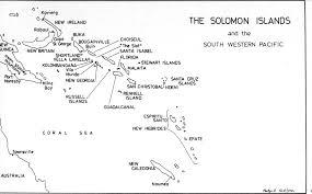 Solomon Islands Map Leslie Noel Taylor Online Cenotaph Auckland War Memorial Museum
