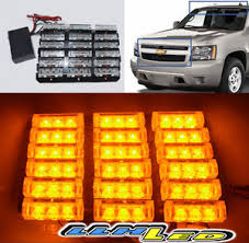 golf cart led strobe lights universal fit diy waterproof 54 led amber strobe lights tow truck