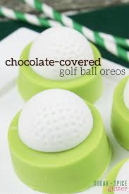 chocolate dipped oreo golf balls sugar spice and glitter