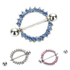 girls nipple rings images Rhinestone nipple piercing fashion body piercing gem paved circle jpg