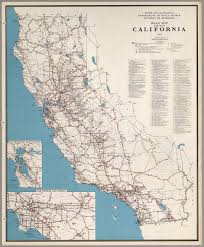 search road map road map of the state of california 1956 david rumsey