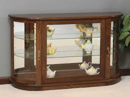 wood curio cabinet with glass doors small corner curio cabinet collaborate decors curio cabinets
