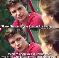 The Fault In Our Stars Meme - shailene woodley keeps her distance from ansel elgort in romantic