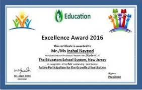 education award certificate template example job resume middle