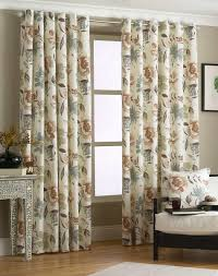 Floral Lined Curtains Floral Curtains Fully Lined Eyelet Ring Top Ready Made Blue Pink