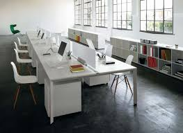 Office Table With Partition Office Bench Desk For The Open Plan Office Office Architect
