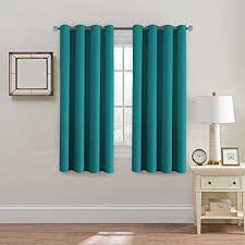 teal blue curtains bedrooms teal curtain panels amazon com
