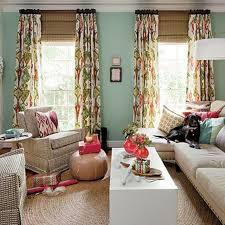 Colorful Patterned Curtains Colorful Patterned Curtain With White Color Base Also